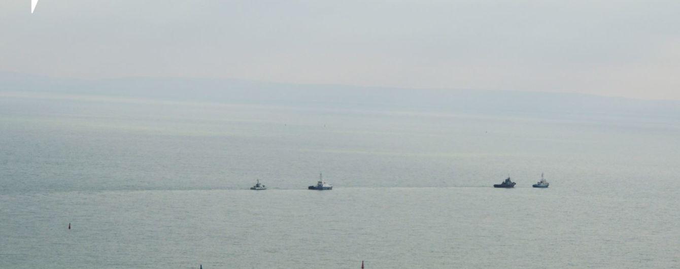 Возвращенные Россией военные корабли вошли в территориальные воды Украины
