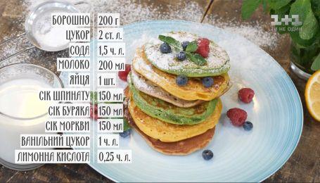 Кольорові панкейки – рецепти Руслана Сенічкіна