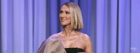 В экстравагантном платье с обнаженным плечом: Селин Дион на телешоу