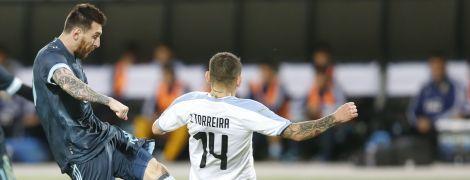 Гол Месси в компенсированное время спас Аргентину от поражения в матче с Уругваем
