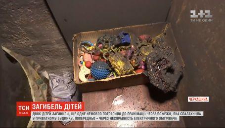 Дети, которые погибли в пожаре в Черкасской области, задохнулись угарным газом