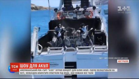 Американская рок-группа KISS сыграла концерт для белых акул в Австралии