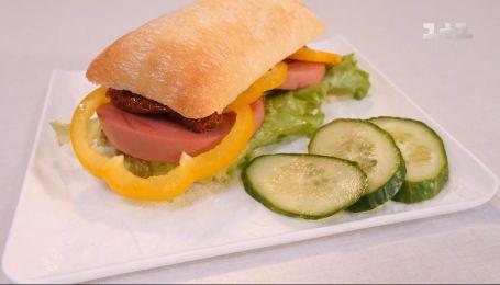 Бургер с колбасой – Правила завтрака. Дети