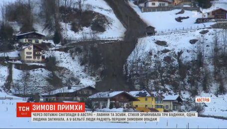 Из-за сильных снегопадов в Австрии возник риск оползней и лавин