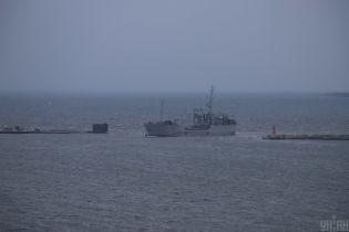 Українські кораблі увійшли у порт Очакова