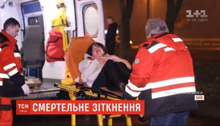 Два человека погибли в Киеве в результате аварии с участием внедорожника и микроавтобуса