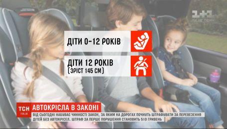 Безпека під час перевезення дітей: як штрафуватимуть безвідповідальних батьків і водіїв
