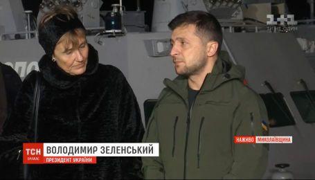 Повернені Росією кораблі в Очакові: Зеленський запізнився до порту через поломку літака