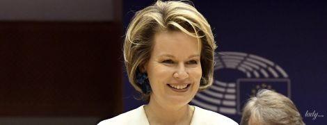 Какая стильная: королева Матильда в деловом образе посетила Европарламент