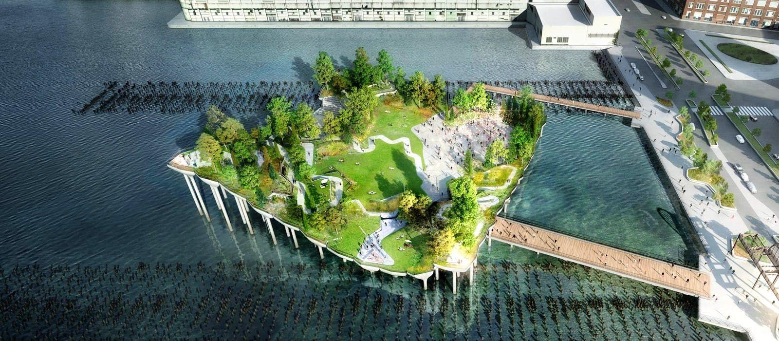 """Нью-Йорк парк """"Маленький остров"""""""