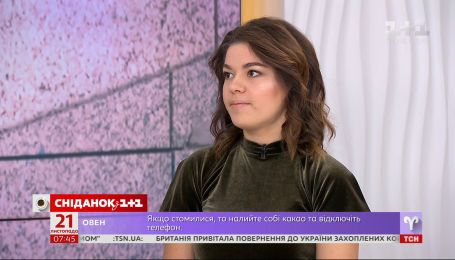 """У студії """"Сніданку"""" – відважна медсестра Олеся Жуковська, яка була поранена снайпером в шию під час Майдану"""