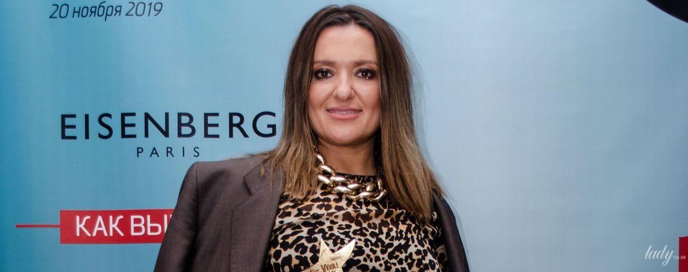 У леопардовій сукні і чоловічому жакеті: Наталія Могилевська на вечірці глянцю