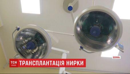 Вперше в Україні медики районної лікарні пересадили нирку