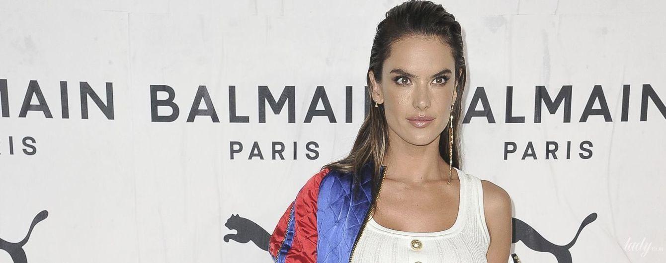 В белом топе и обтягивающий брюках: Алессандра Амбросио пришла на вечеринку в сексуальном луке