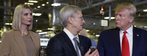 Во всем бежевом: стильная Иванка Трамп на заводе Apple