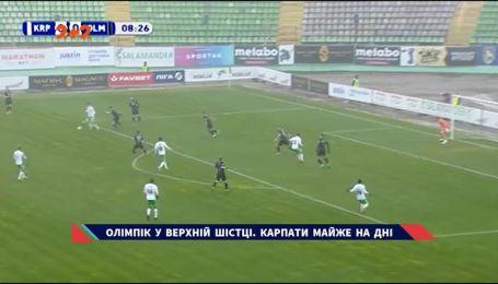 Карпати - Олімпік - 1:2. Відео-огляд матчу