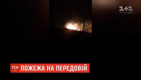 В селе Березовое вспыхнул пожар вследствие враждебного обстрела - жителей эвакуировали