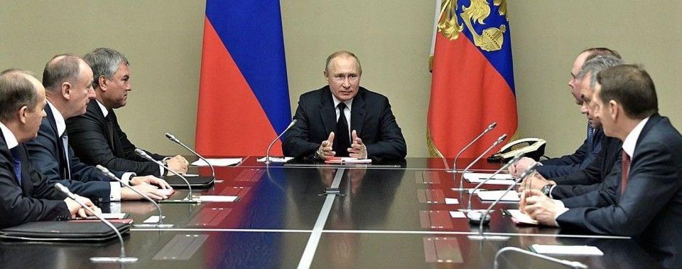 Путин собрал заседание Совбеза РФ. Говорили об Украине