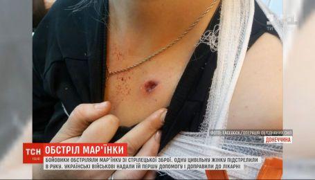 У Мар'їнці бойовики поранили цивільну жінку