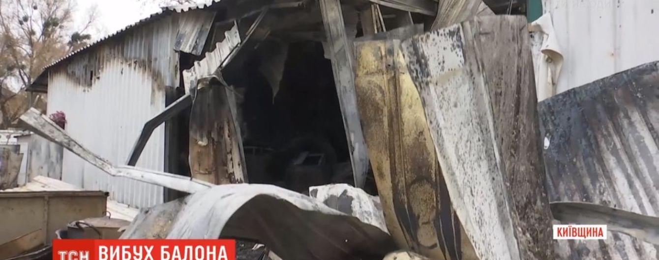 В Киевской области в вагончике, где готовили еду, взорвался газовый баллон