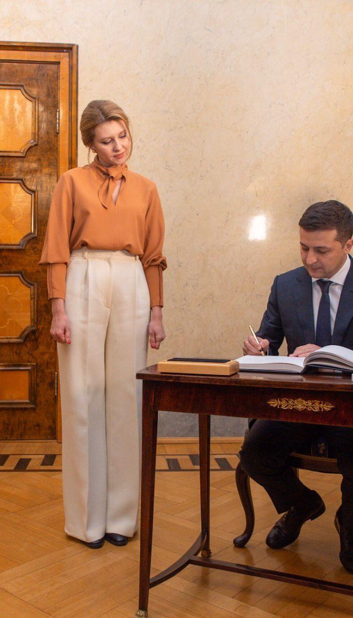 Володимир і Олена Зеленские/twitter Lauri Bambus
