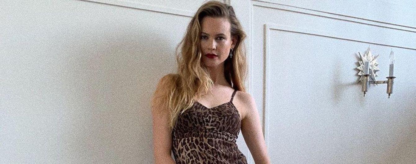 В леопардовій сукні та дивних туфлях: Бехаті Прінслу сходила на вечірку