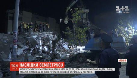 Землетрус в Албанії: кількість жертв зросла до 22
