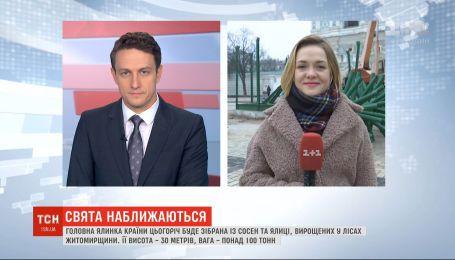 На Софійській площі у Києві почали облаштовувати різдвяне містечко