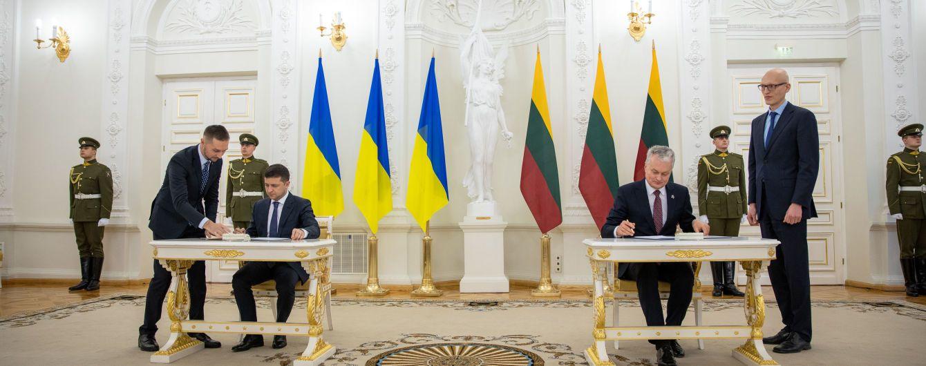 Україна та Литва підписали декларацію про стратегічне партнерство