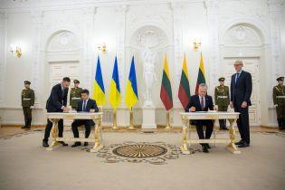 Украина и Литва подписали декларацию о стратегическом партнерстве