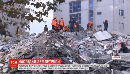 Після руйнівного землетрусу албанці відчули нові підземні поштовхи