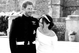 В честь годовщины: герцогиня Меган и принц Гарри опубликовали новое свадебное фото