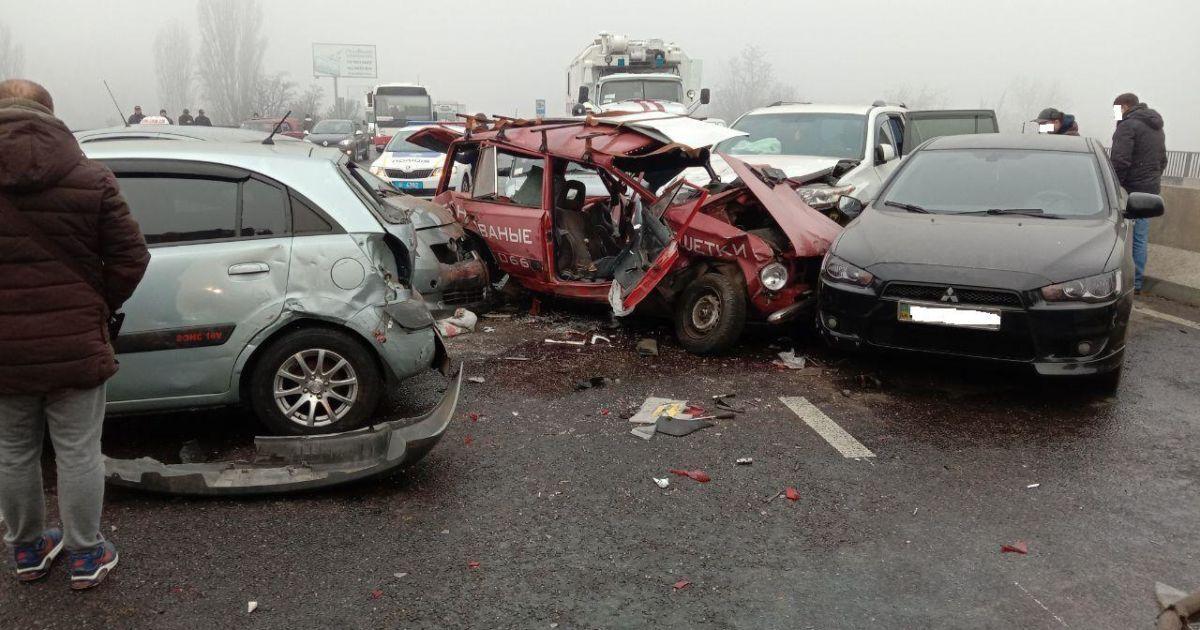 Масштабна аварія сталася на трасі Київ-Одеса: загалом щіткнулися ...
