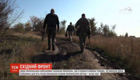 За минувшие сутки боевики 9 раз нарушили режим прекращения огня на фронте