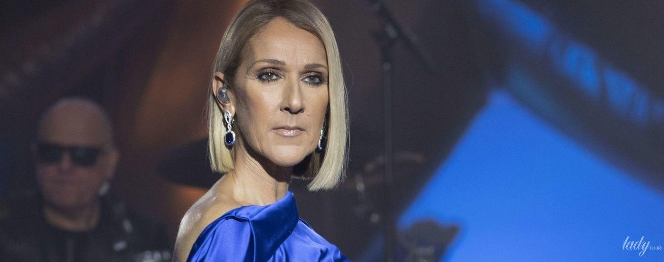 В эффектном платье с разрезом и лодочках Louis Vuitton: Селин Дион на концерте