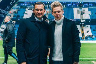 Зинченко взял интервью у Шевченко в Манчестере
