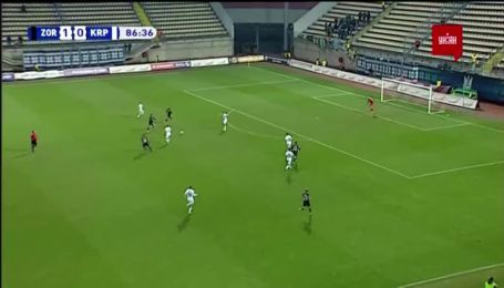 Заря - Карпаты - 2:0. Видео гола Русина