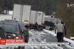 Через снігопади у США скасовують авіарейси і не встигають розчищати дороги
