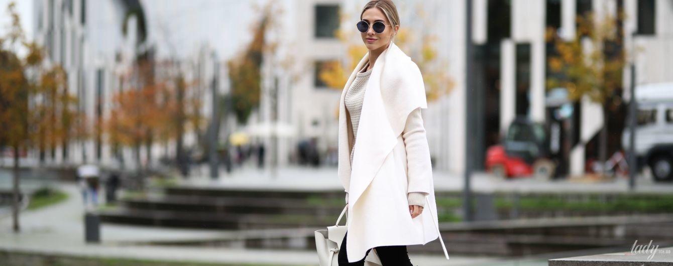 Как носить пальто-халат