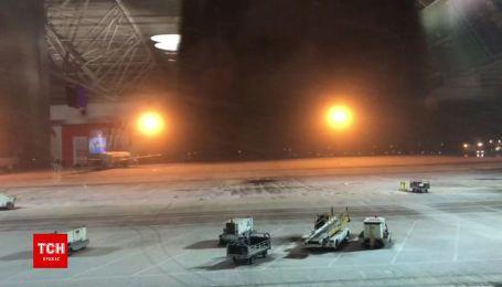 В Киеве начал падать снег
