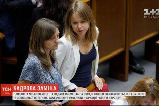 Єлизавета Ясько замінить Богдана Яременка на посаді голови комітету з питань зовнішньої політики