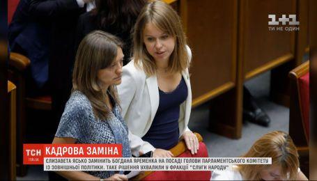 Елизавета Ясько заменит Богдана Яременко в должности председателя комитета по вопросам внешней политики