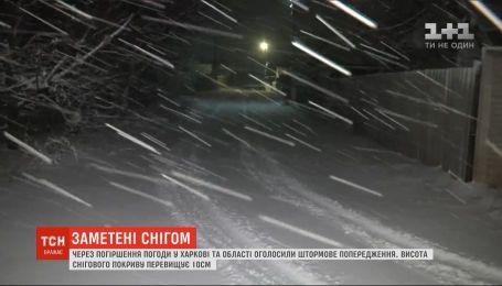 На Харківщині випало понад 10 сантиметрів снігу