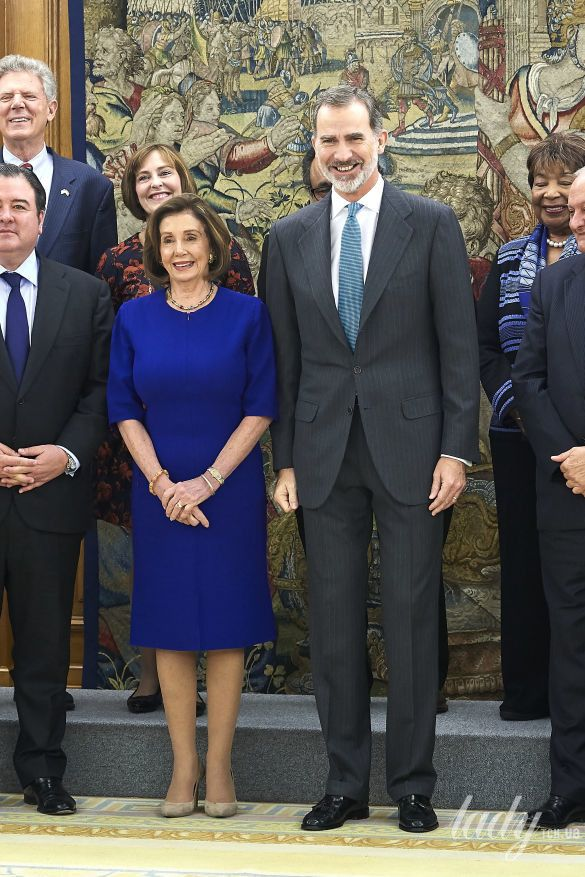 Нэнси Пелоси и король Испании Филипп VI_2