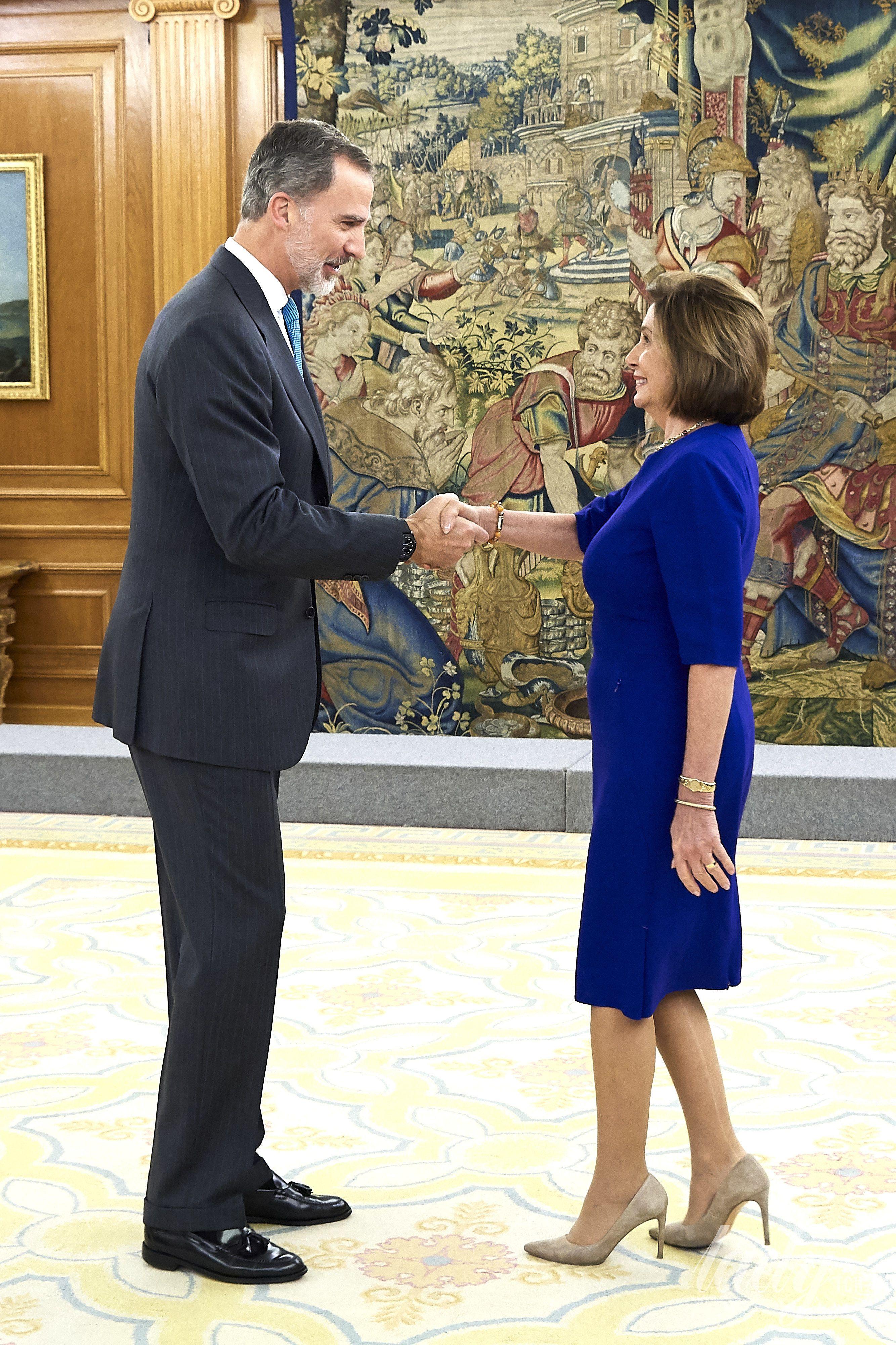 Нэнси Пелоси и король Испании Филипп VI_3