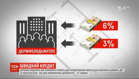 Государство выделило 200 миллионов гривен на кредитование жилья для АТОшников и переселенцев