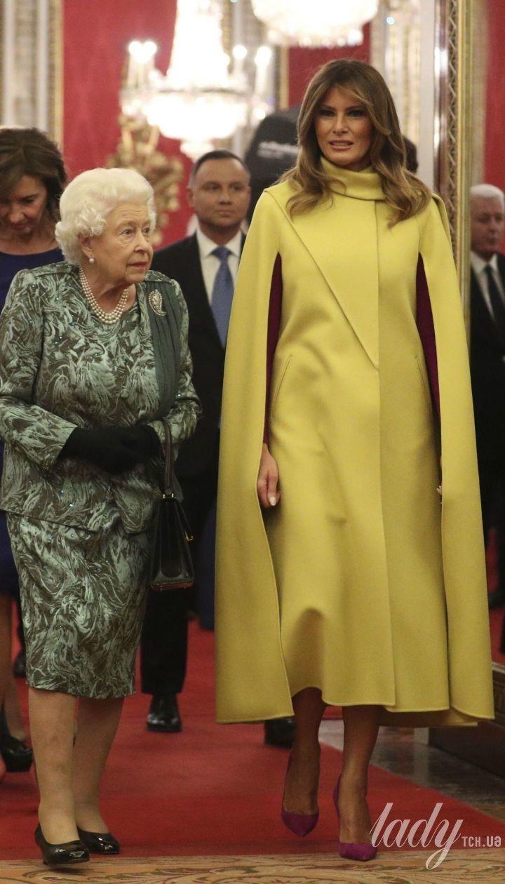 Королева Елизавета II и Мелания Трамп