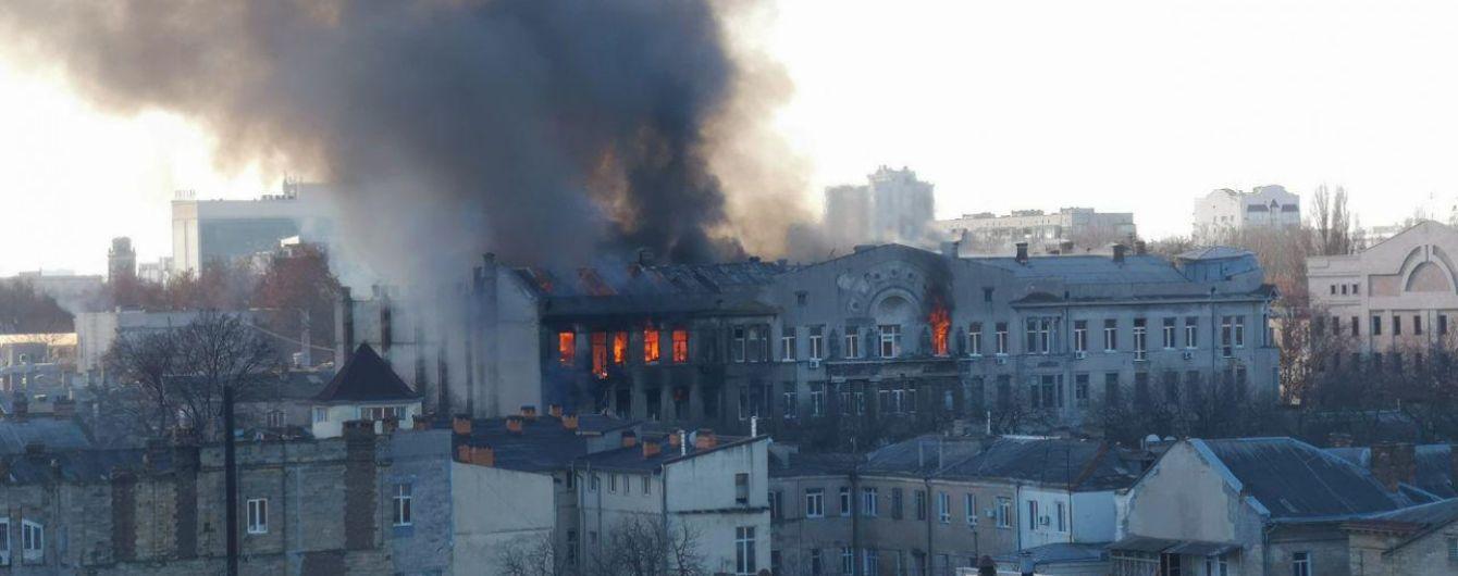 Кабмин создал комиссию по расследованию причин пожара в колледже в Одессе