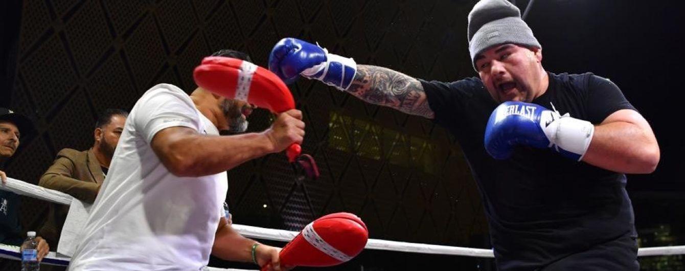 Руис и Джошуа провели открытую тренировку перед супербоем