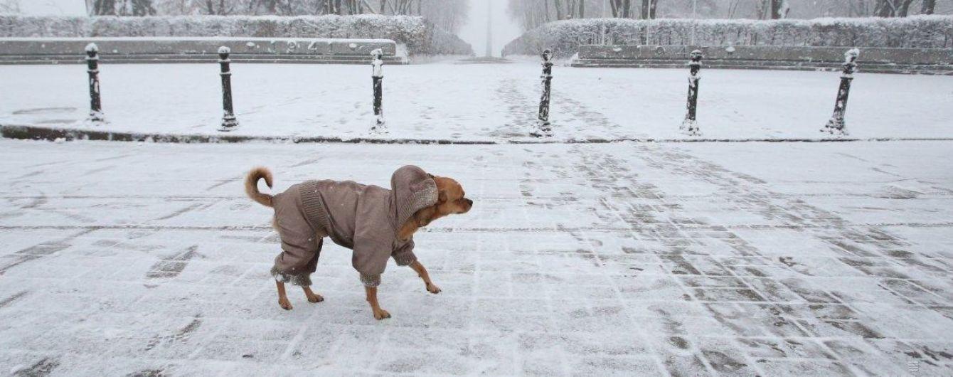 Місцями невеликий сніг та ожеледиця: погода на четвер